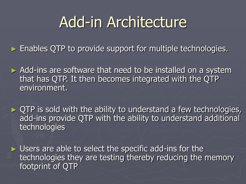 Add-in Architecture