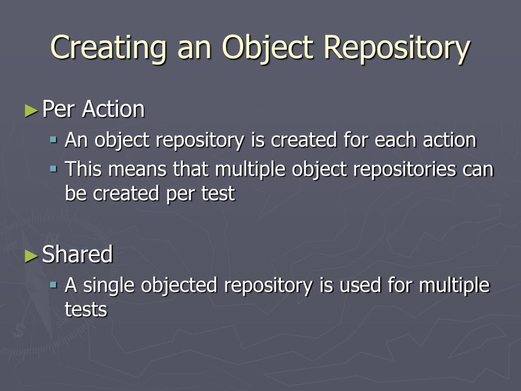 Creating an Object Repository