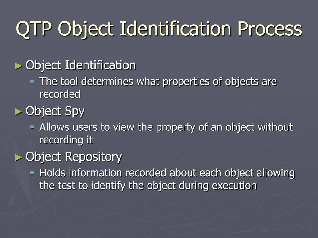 QTP Object Identification Process