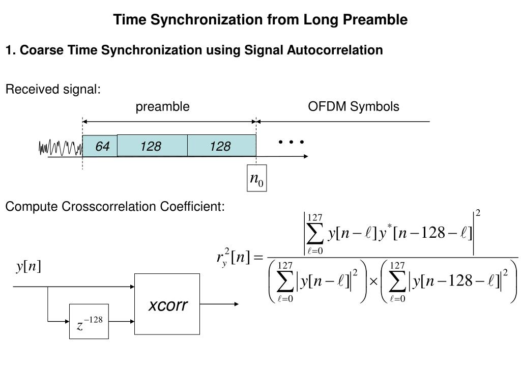 Time Synchronization from Long Preamble