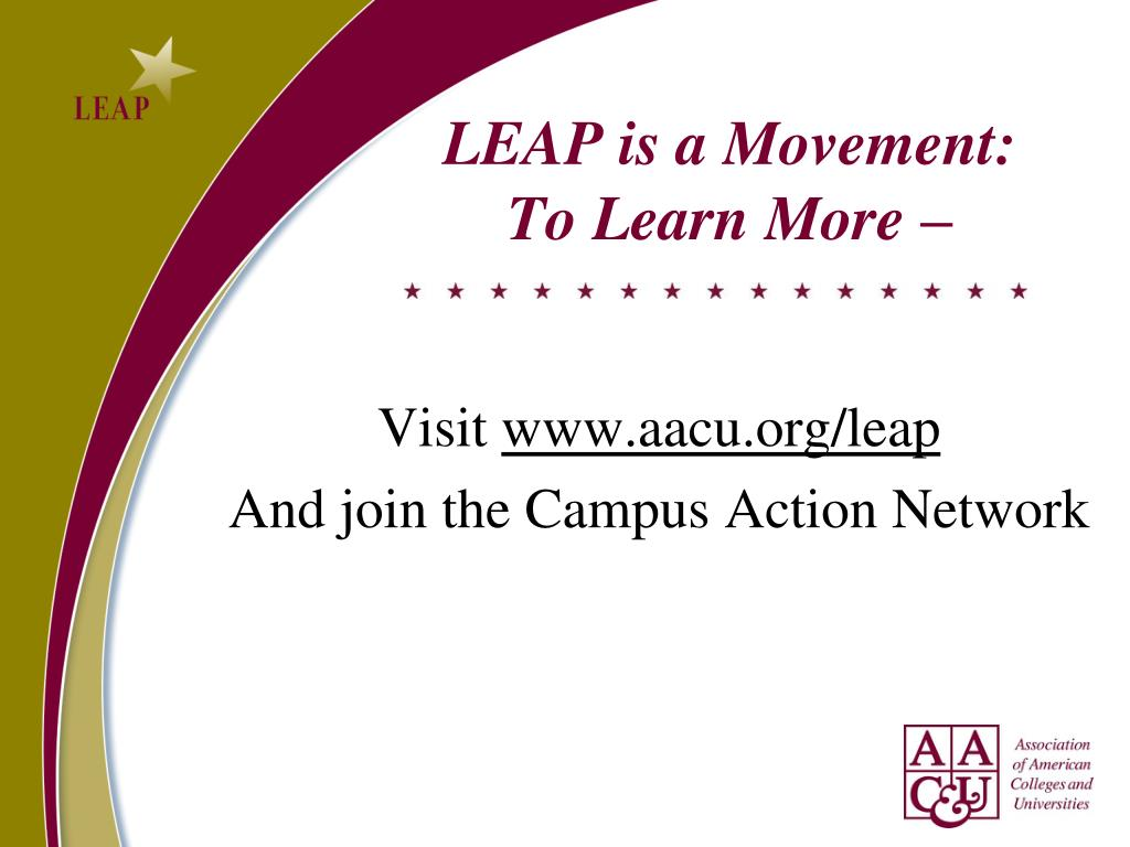 LEAP is a Movement: