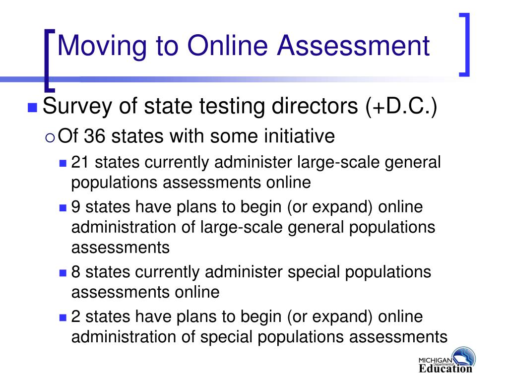 Moving to Online Assessment