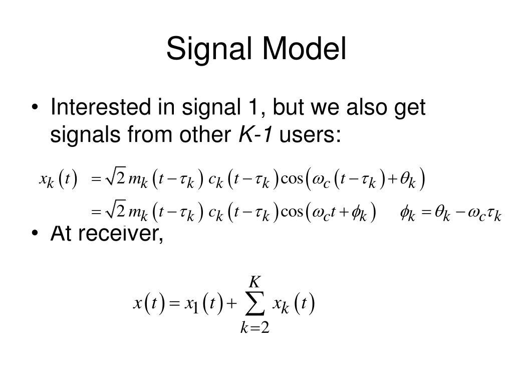 Signal Model