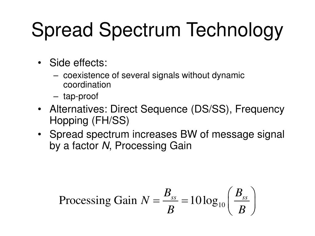 Spread Spectrum Technology