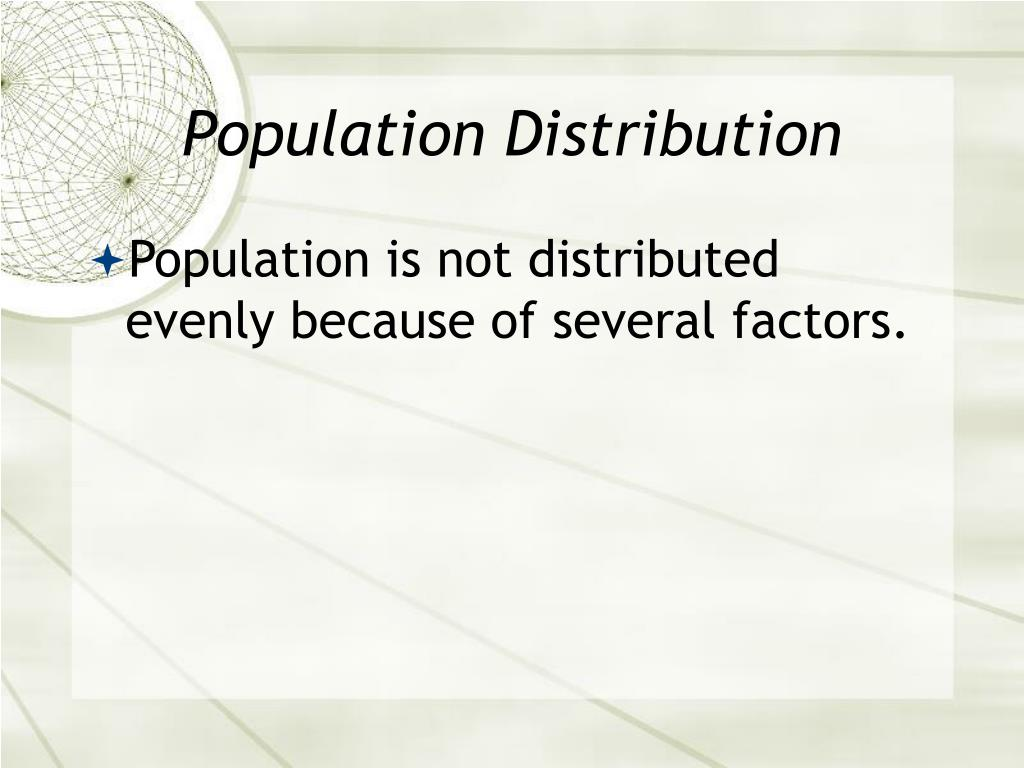 Population Distribution