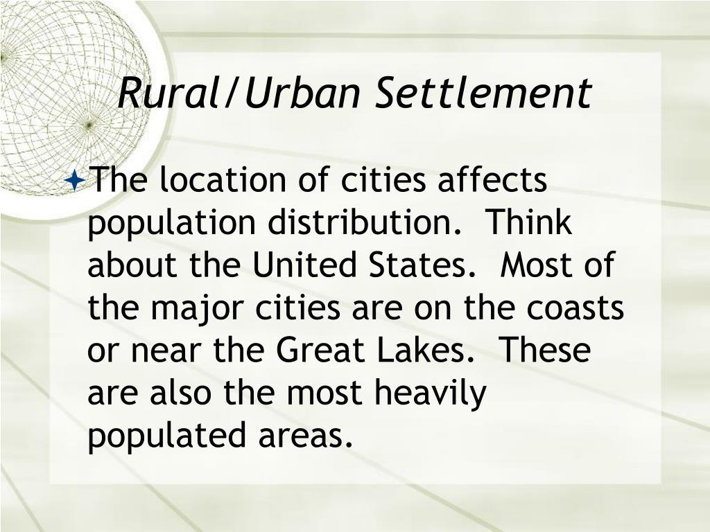 Rural/Urban Settlement