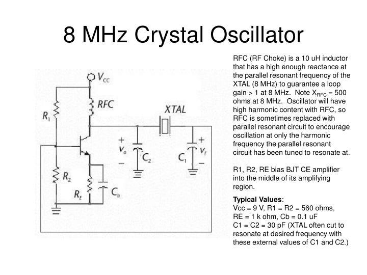 8 MHz Crystal Oscillator