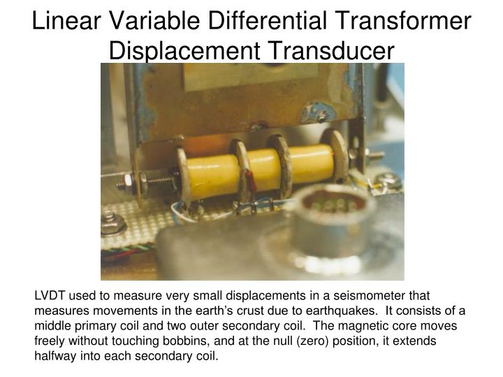 Linear Variable Differential Transformer Displacement Transducer