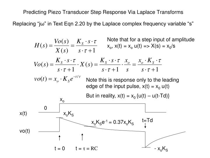 Predicting Piezo Transducer Step Response Via Laplace Transforms
