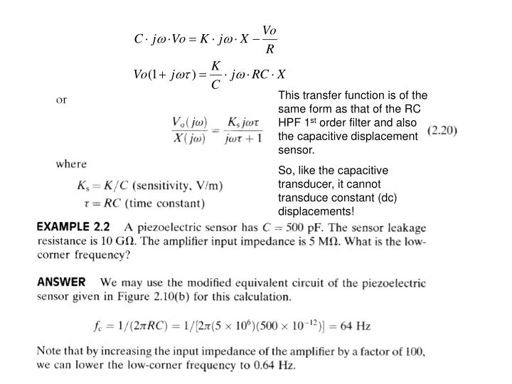 This transfer function is of the same form as that of the RC HPF 1