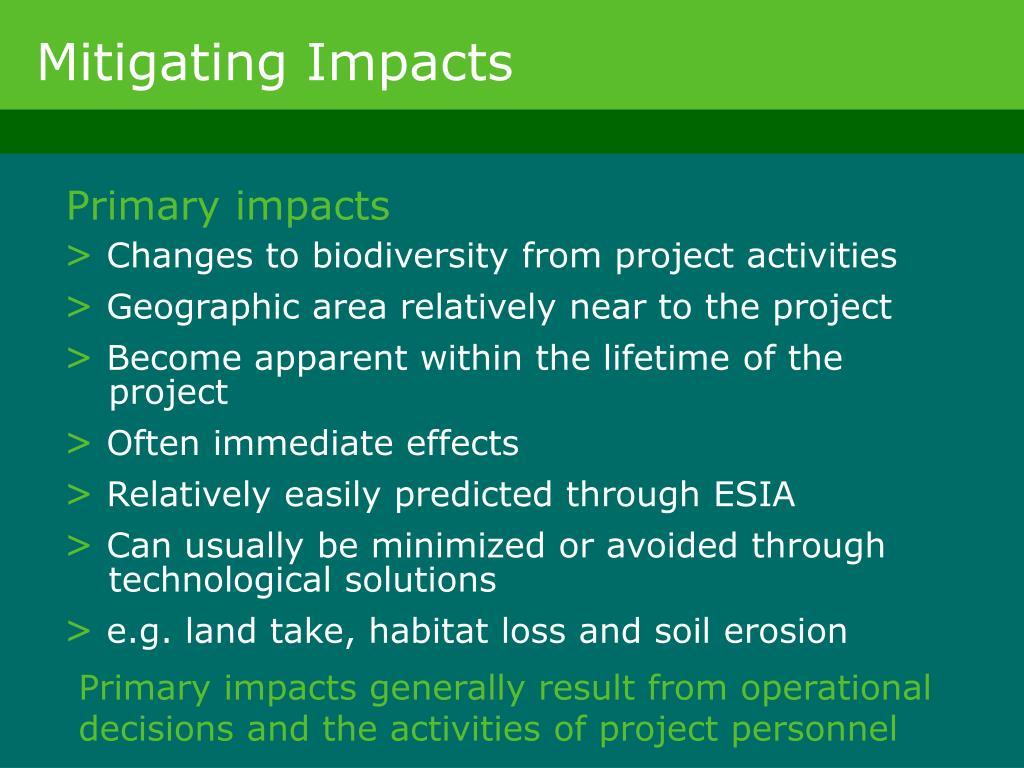 Mitigating Impacts