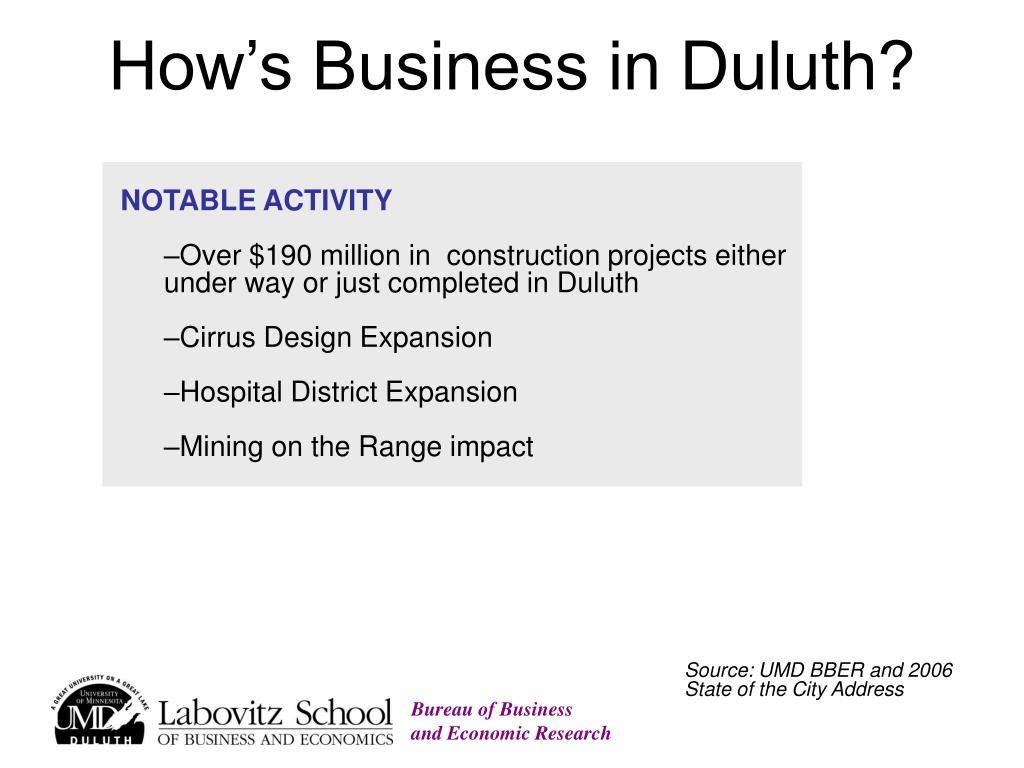 How's Business in Duluth?