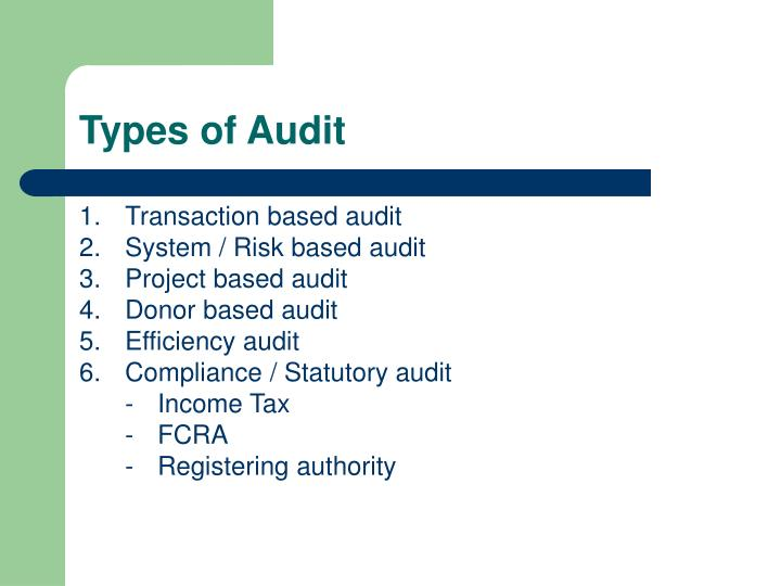 Types of Audit
