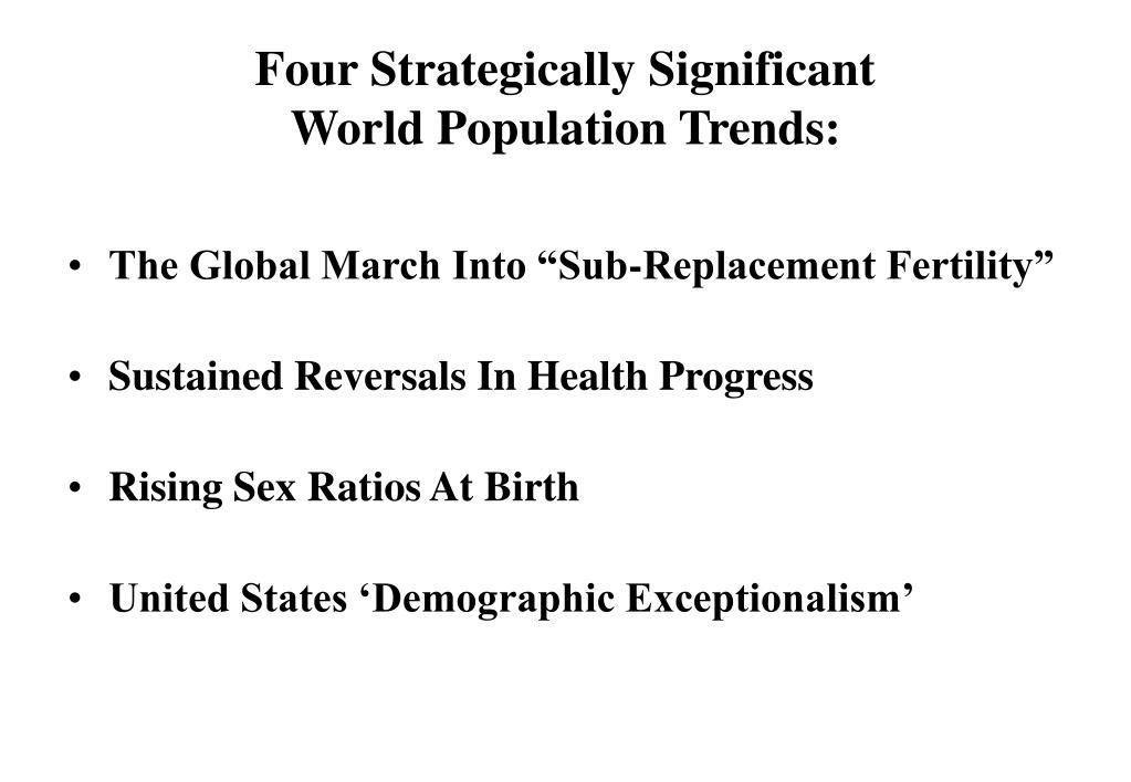 Four Strategically Significant
