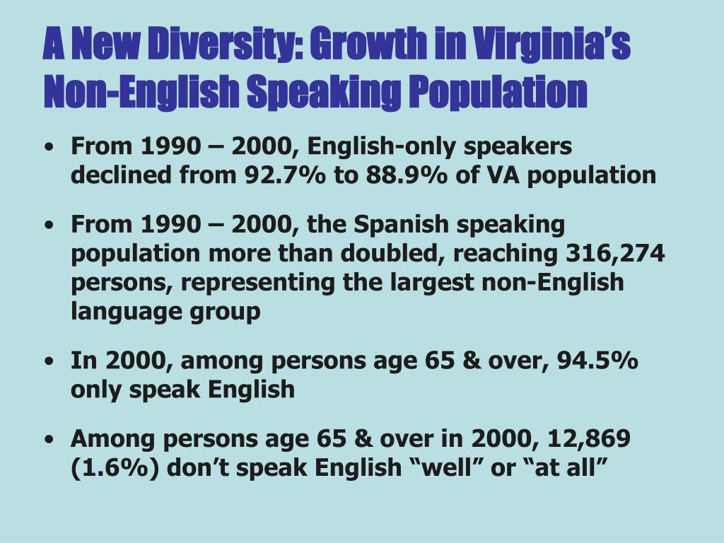 A New Diversity: Growth in Virginia's