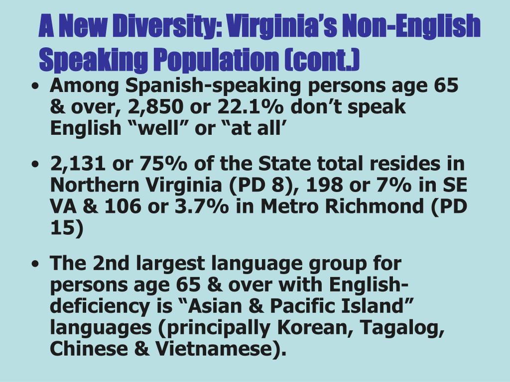 A New Diversity: Virginia's Non-English