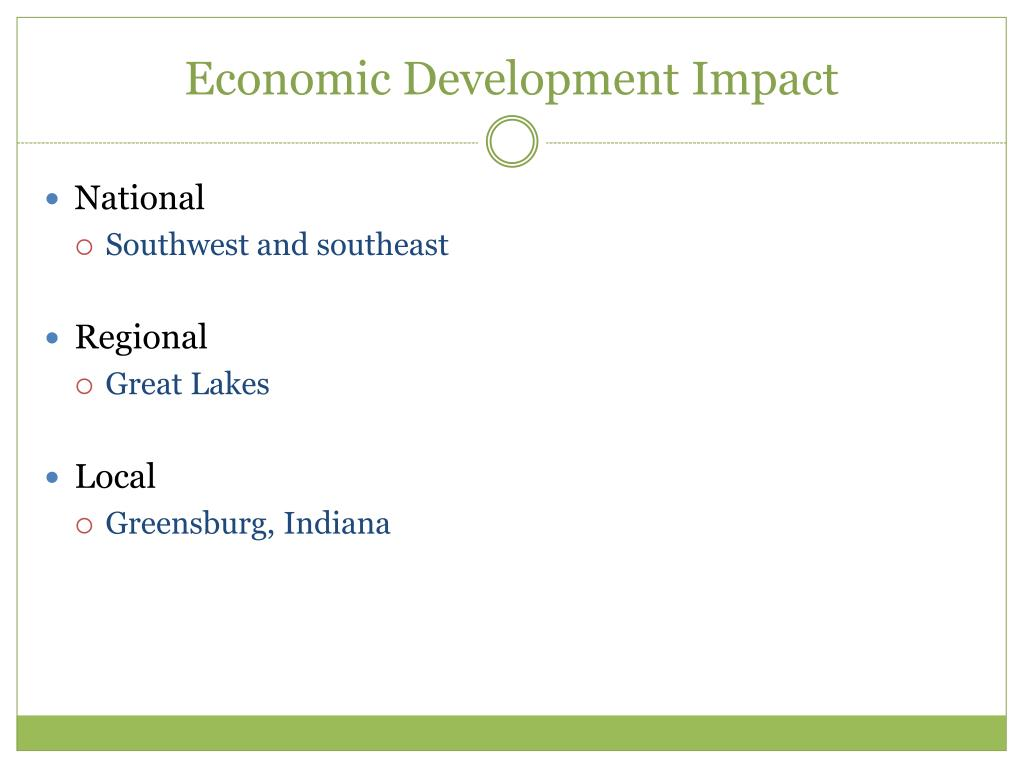 Economic Development Impact