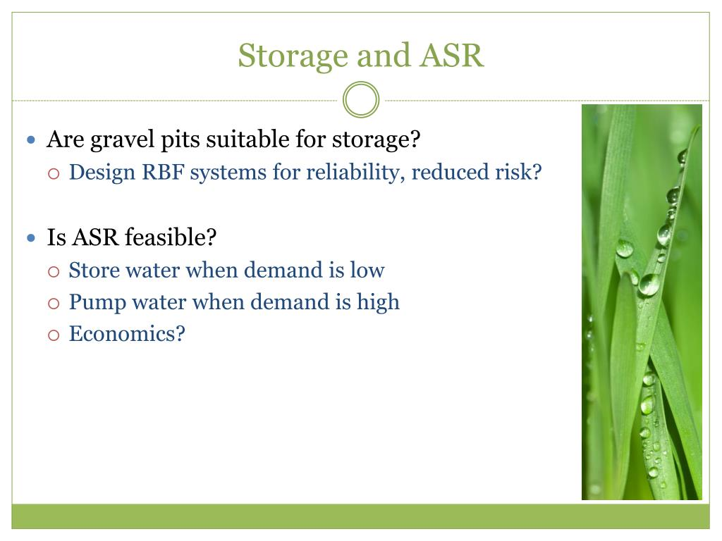 Storage and ASR