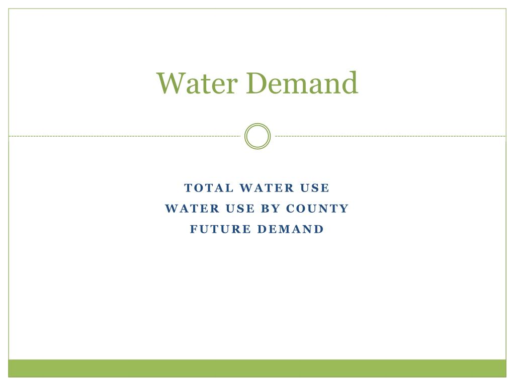 Water Demand