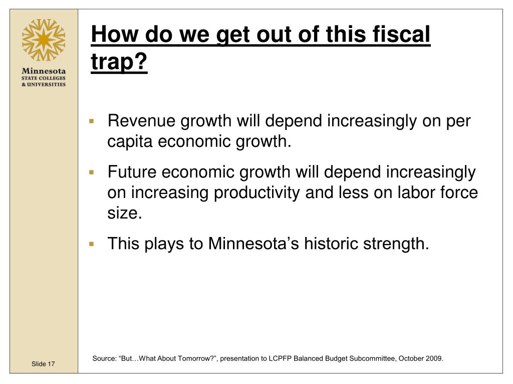 How do we get out of this fiscal trap?