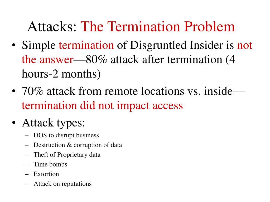 Attacks: