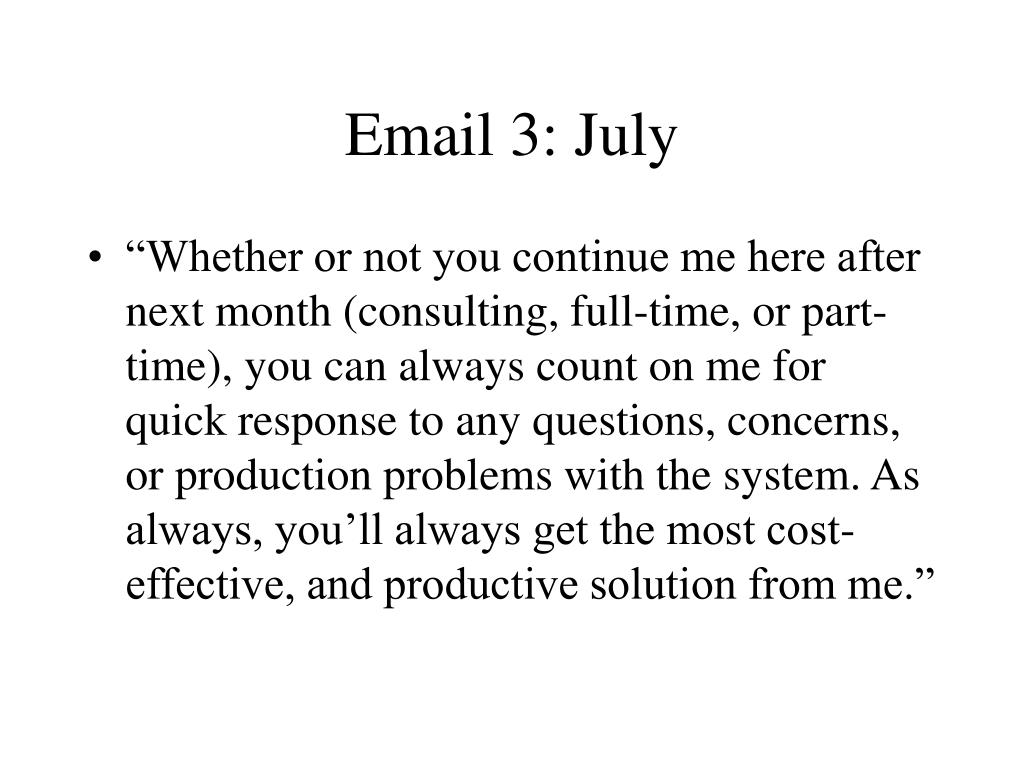 Email 3: July
