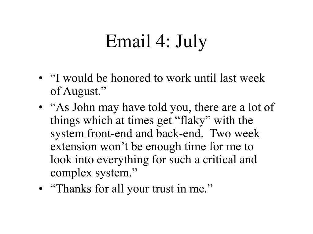 Email 4: July