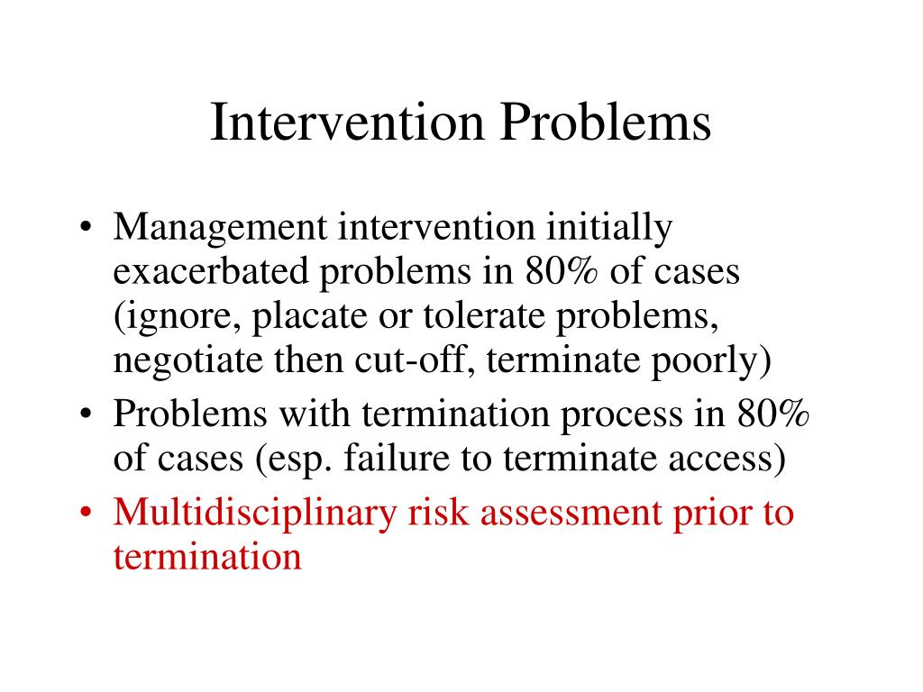 Intervention Problems