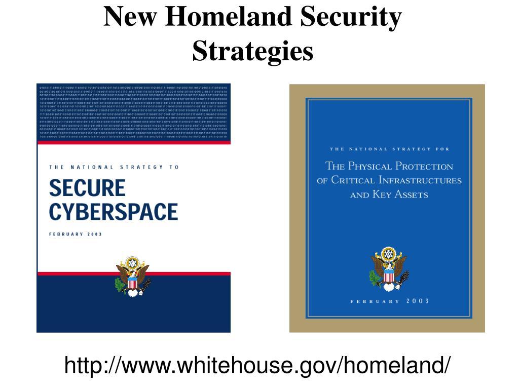 New Homeland Security Strategies