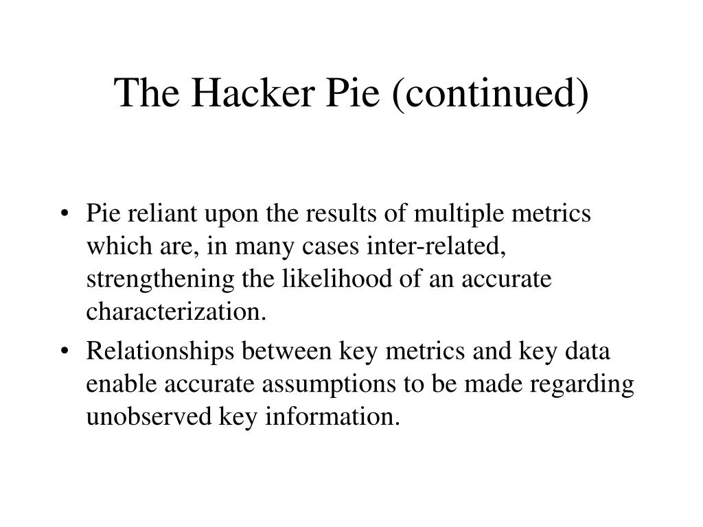 The Hacker Pie (continued)