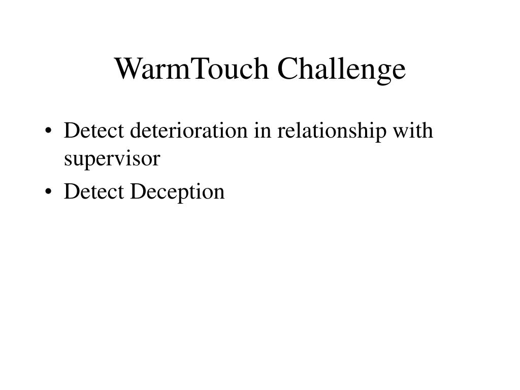 WarmTouch Challenge