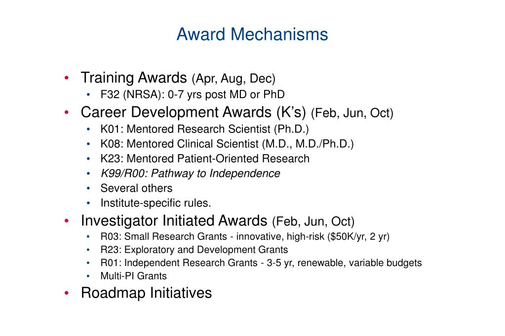 Award Mechanisms
