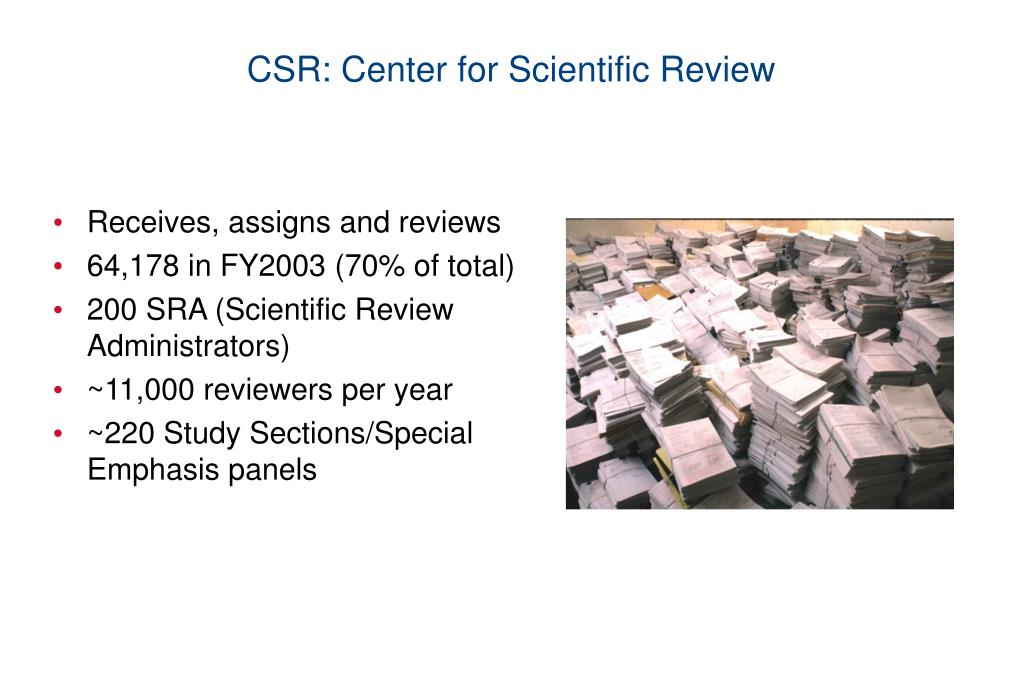 CSR: Center for Scientific Review