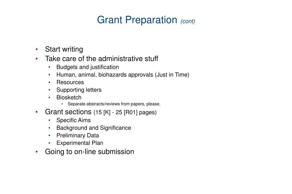 Grant Preparation