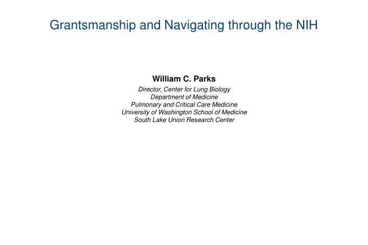 Grantsmanship and navigating through the nih l.jpg