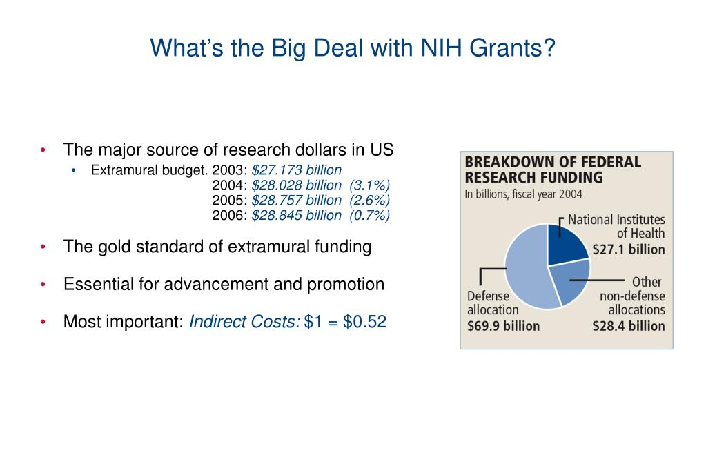 What's the Big Deal with NIH Grants?