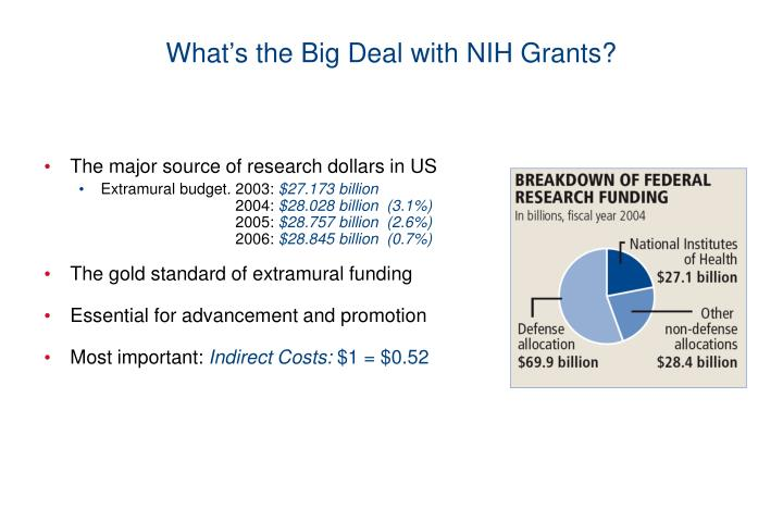 What s the big deal with nih grants