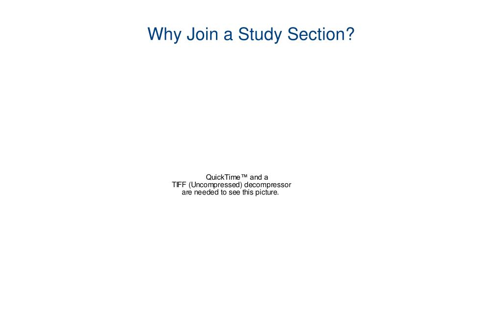 Why Join a Study Section?