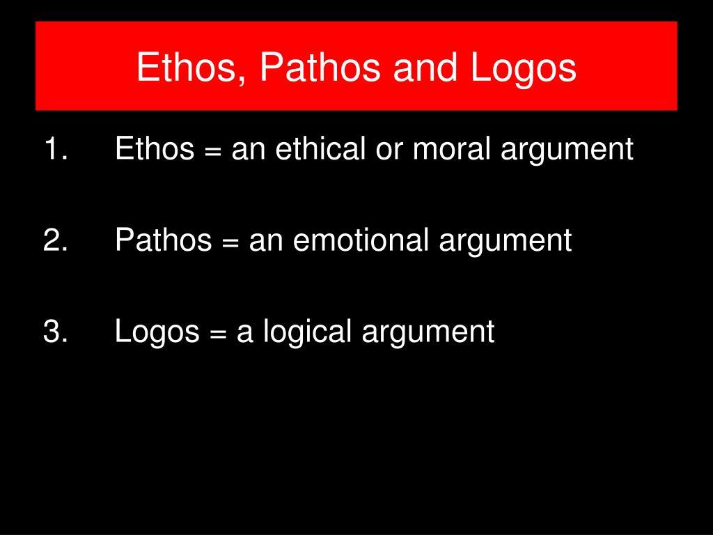 Ethos, Pathos and Logos