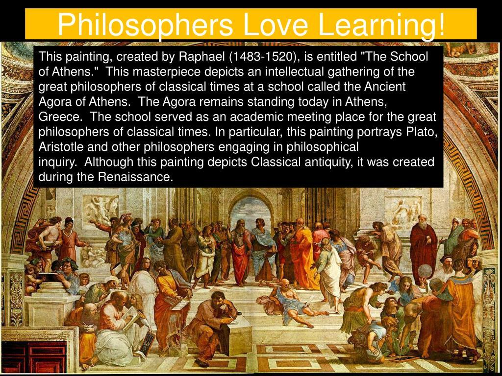 Philosophers Love Learning!