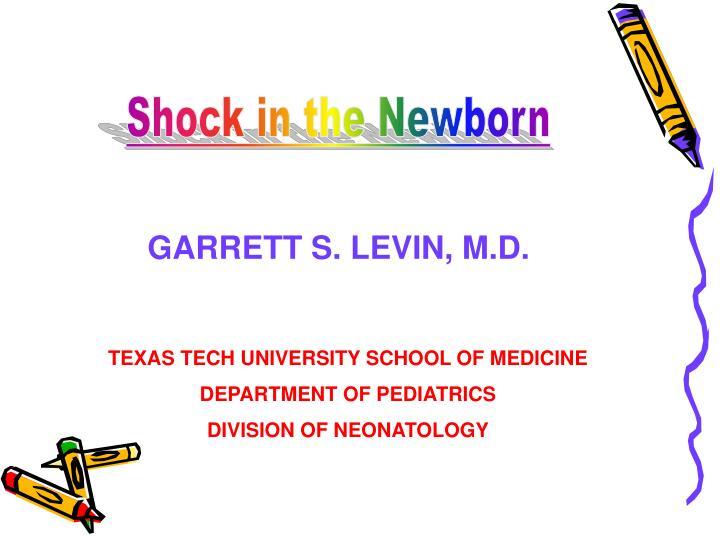Shock in the Newborn