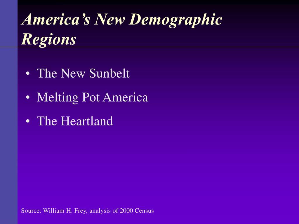 America's New Demographic Regions