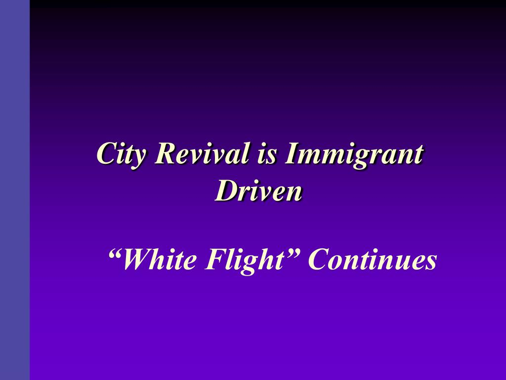 City Revival is Immigrant Driven