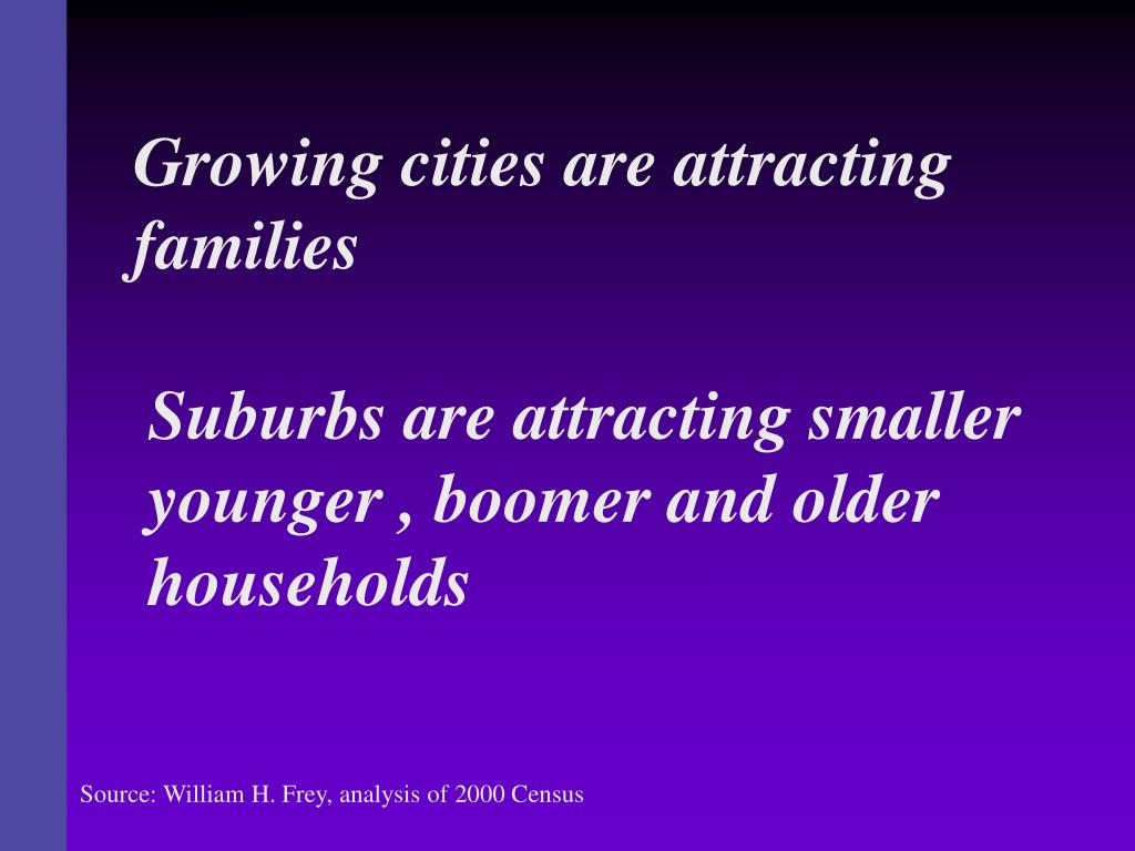 Growing cities are attracting families