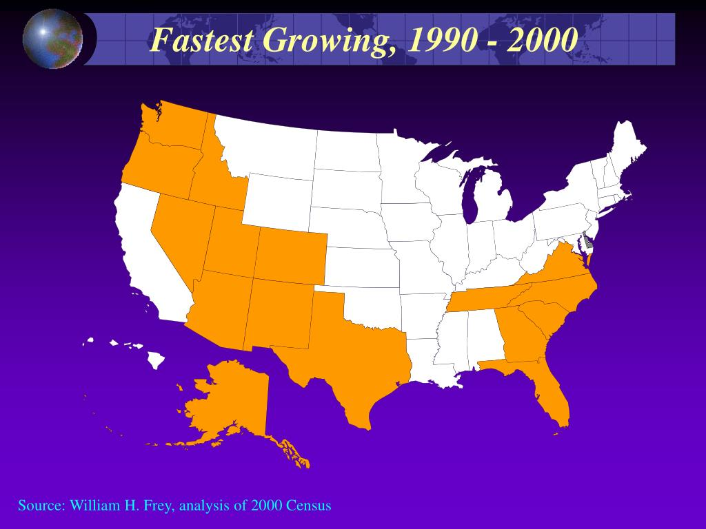 Fastest Growing, 1990 - 2000