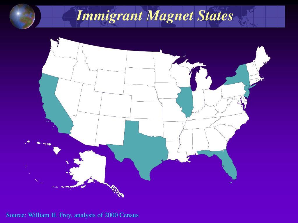 Immigrant Magnet States