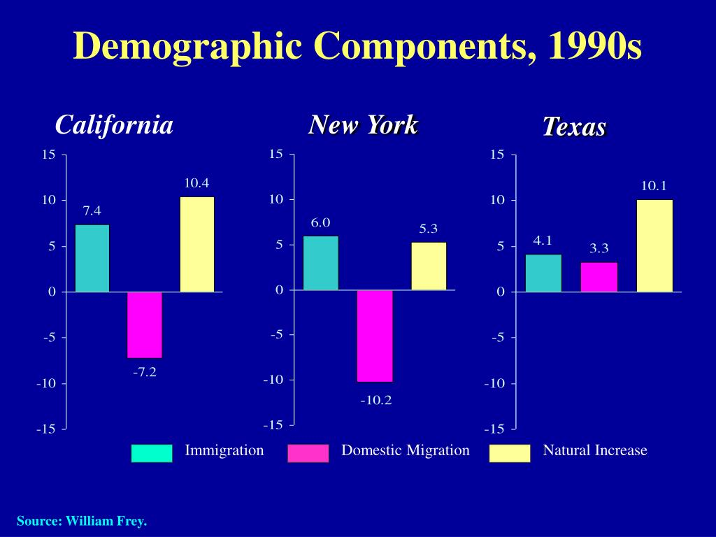 Demographic Components, 1990s