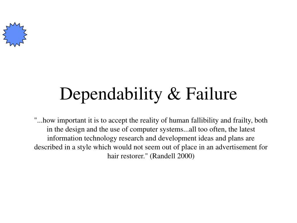 Dependability & Failure