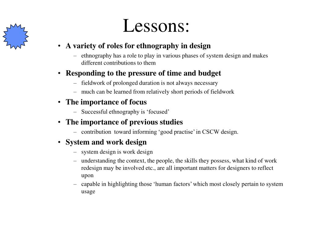 Lessons: