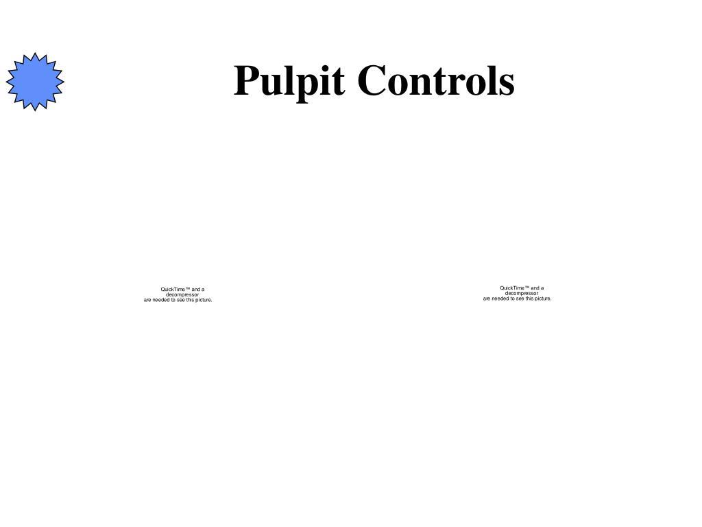 Pulpit Controls